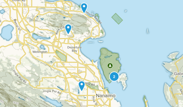 Nanaimo, British Columbia Birding Map