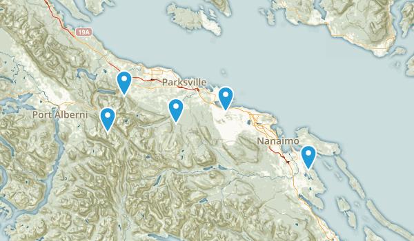 Nanaimo District, British Columbia Birding Map