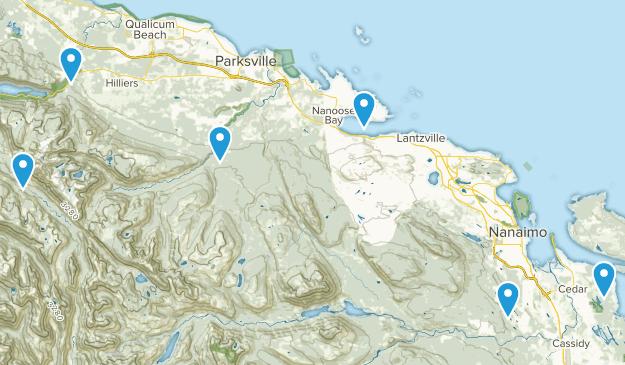 Nanaimo District, British Columbia Walking Map