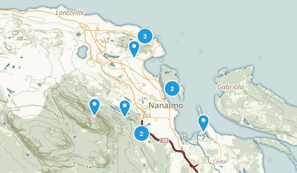 Nanaimo, British Columbia Walking Map