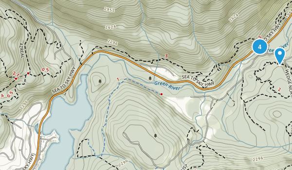 Nesters, British Columbia Mountain Biking Map
