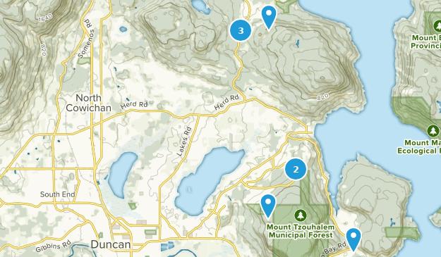 North Cowichan, British Columbia Birding Map