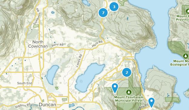 North Cowichan, British Columbia Bird Watching Map