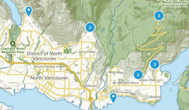 North Vancouver District, British Columbia Birding Map