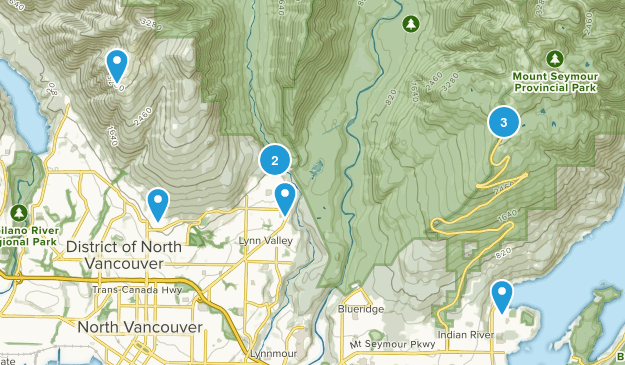 North Vancouver District, British Columbia Dog Friendly Map