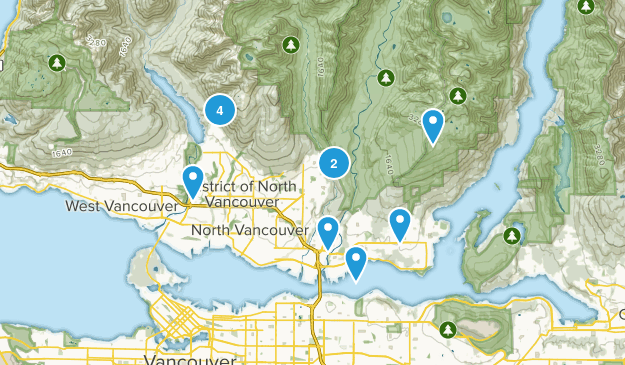 North Vancouver District, British Columbia No Dogs Map