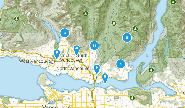 North Vancouver District, British Columbia Forest Map