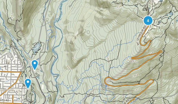 North Vancouver District, British Columbia Lake Map