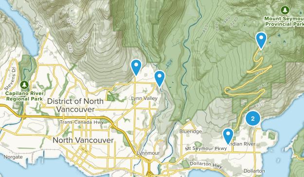 North Vancouver District, British Columbia Mountain Biking Map