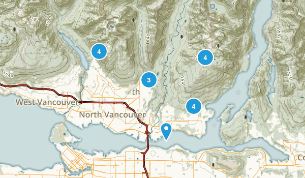 North Vancouver District, British Columbia Nature Trips Map