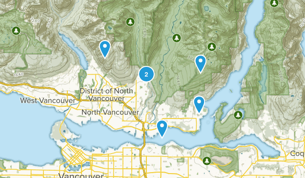 North Vancouver District, British Columbia Wild Flowers Map