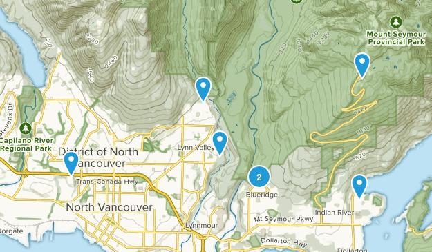 North Vancouver, British Columbia Trail Running Map