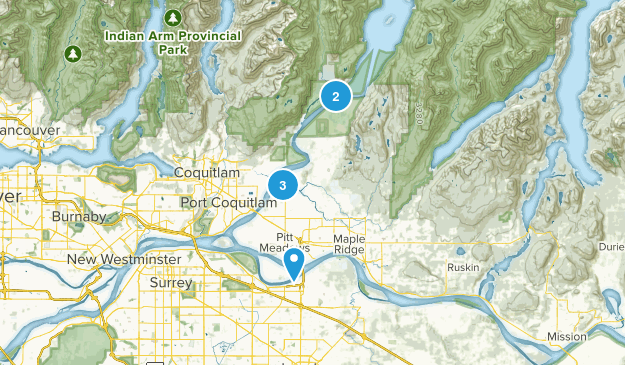 Pitt Meadows, British Columbia River Map