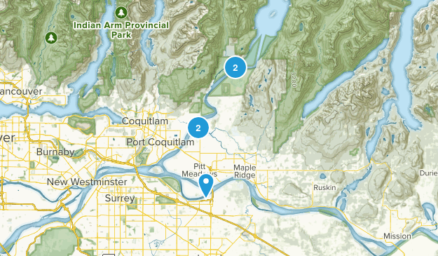 Pitt Meadows, British Columbia Trail Running Map