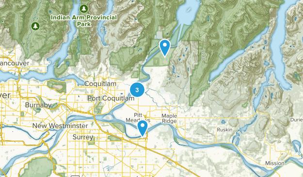 Pitt Meadows, British Columbia Walking Map