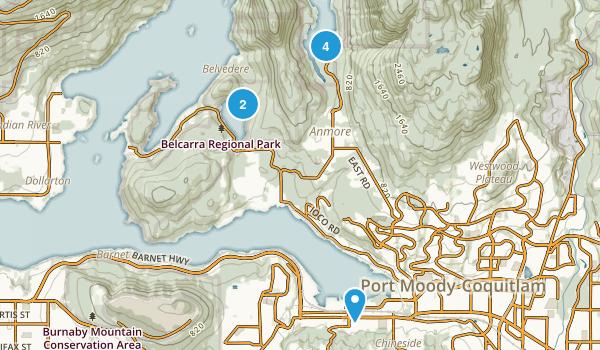 Port Moody, British Columbia Dogs On Leash Map