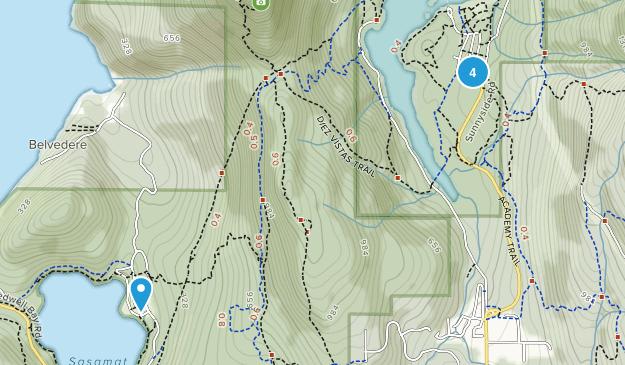 Port Moody, British Columbia Lake Map