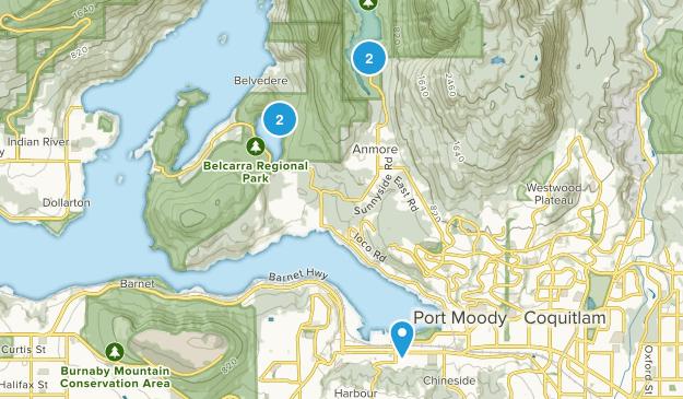 Port Moody, British Columbia Walking Map