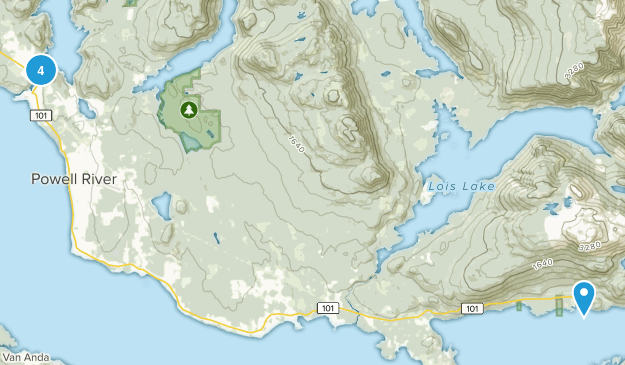 Powell River, British Columbia Birding Map