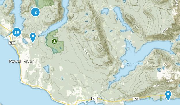Powell River, British Columbia Bird Watching Map