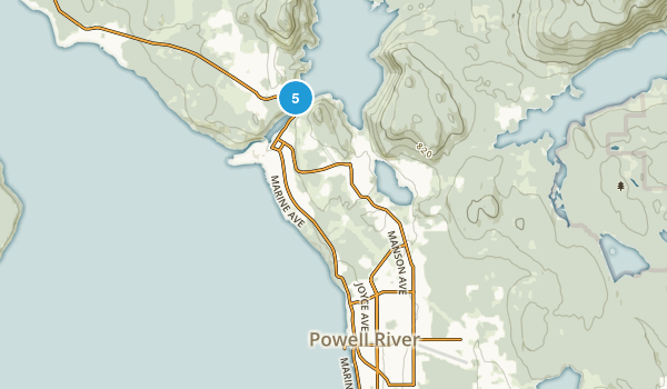Powell River, British Columbia Hiking Map