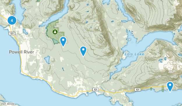 Powell River, British Columbia Nature Trips Map