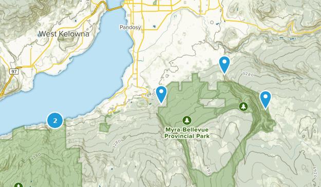 Regional District of Central Okanagan, British Columbia Hiking Map