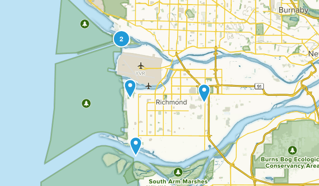 Richmond, British Columbia Dogs On Leash Map
