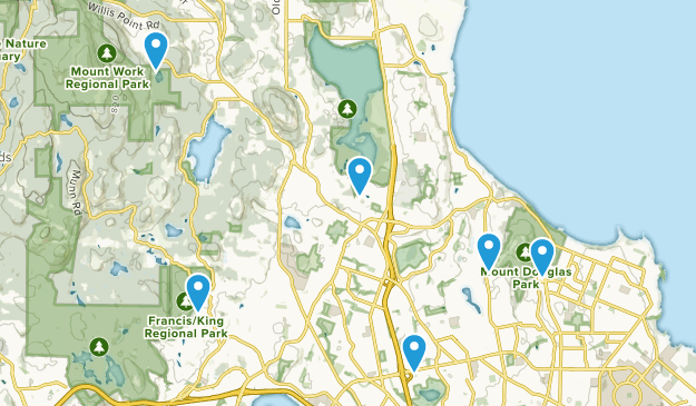 Saanich, British Columbia Forest Map