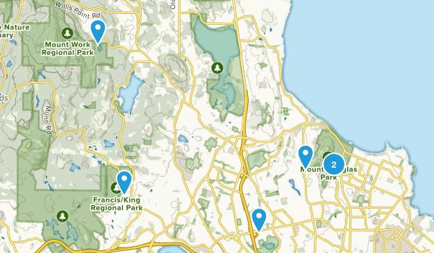Saanich, British Columbia Nature Trips Map