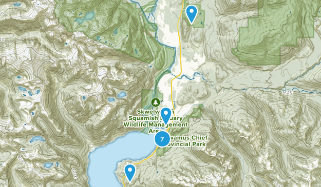 Squamish, British Columbia Dogs On Leash Map