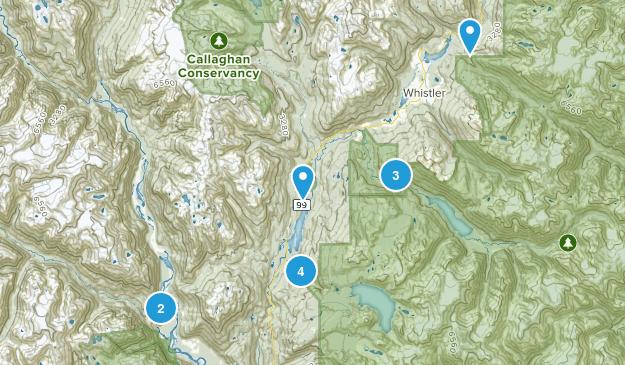 Squamish-Lillooet, British Columbia Walking Map