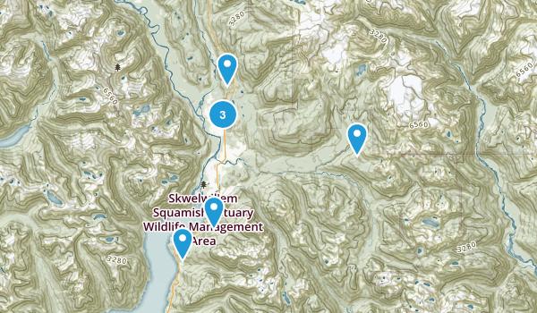 Squamish, British Columbia Nature Trips Map