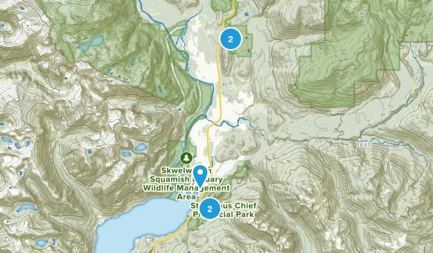Squamish, British Columbia River Map