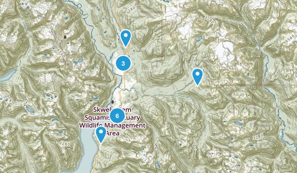 Squamish, British Columbia Walking Map