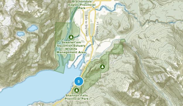 Squamish, British Columbia Waterfall Map