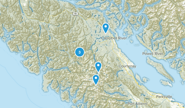 Strathcona, British Columbia Hiking Map