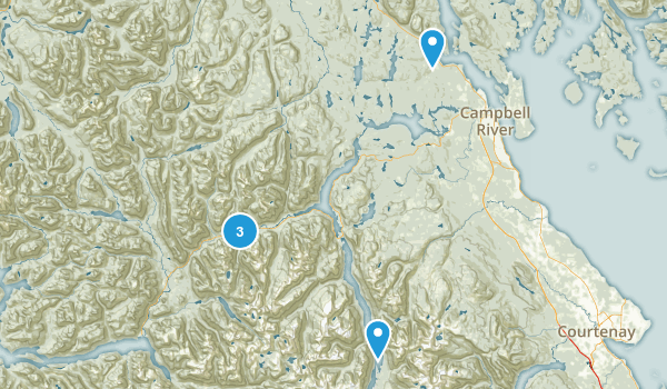 Strathcona, British Columbia Trail Running Map