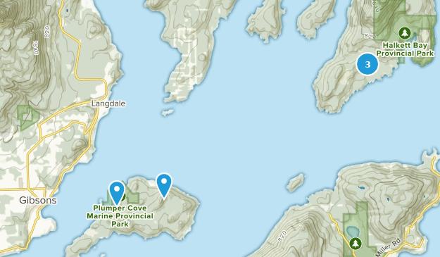 Sunshine Coast F, British Columbia Bird Watching Map