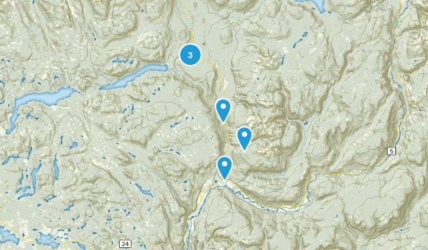Thompson-Nicola A, British Columbia Views Map