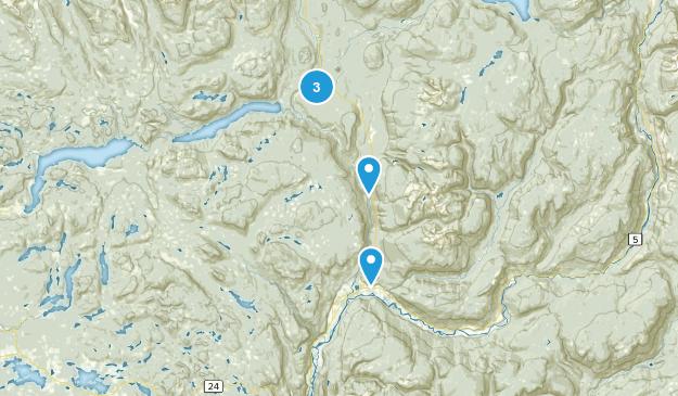Thompson-Nicola A, British Columbia Waterfall Map