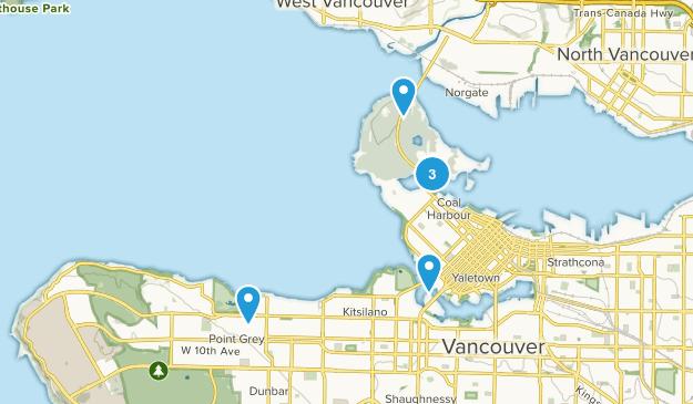 Vancouver, British Columbia Beach Map