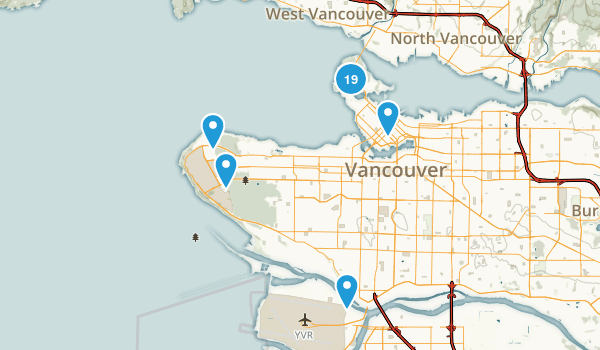Vancouver, British Columbia Nature Trips Map