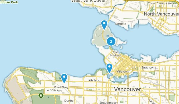 Vancouver, British Columbia Road Biking Map
