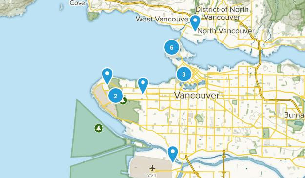 Vancouver, British Columbia Trail Running Map
