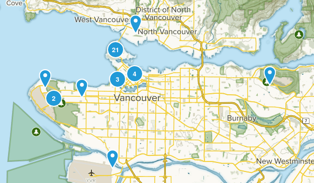 Vancouver, British Columbia Walking Map