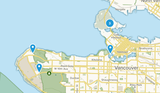 Vancouver, British Columbia Wildlife Map