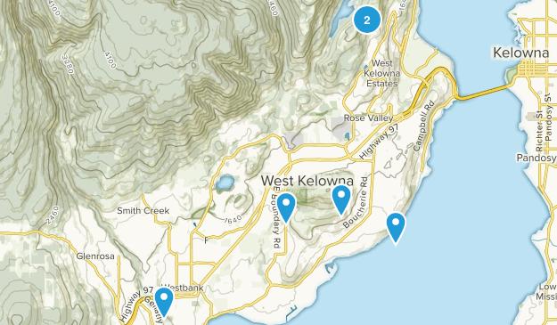 West Kelowna, British Columbia Views Map