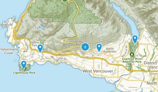 West Vancouver, British Columbia Dog Friendly Map