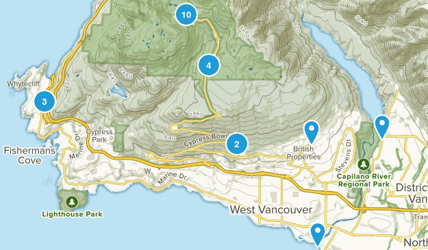 West Vancouver, British Columbia Dogs On Leash Map
